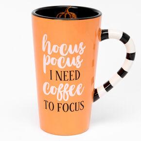 Hocus Pocus I Need Coffee To Focus Mug - Orange,