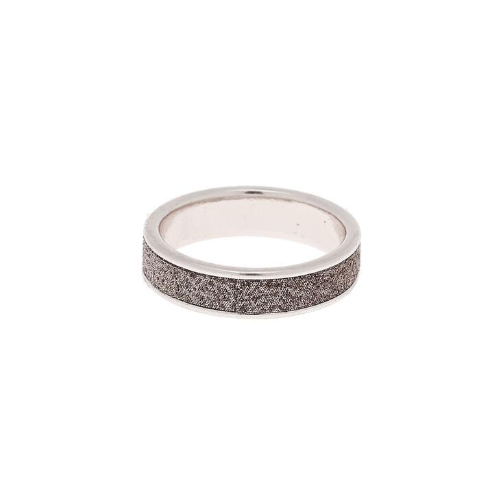 Silver Glitter Midi Ring,