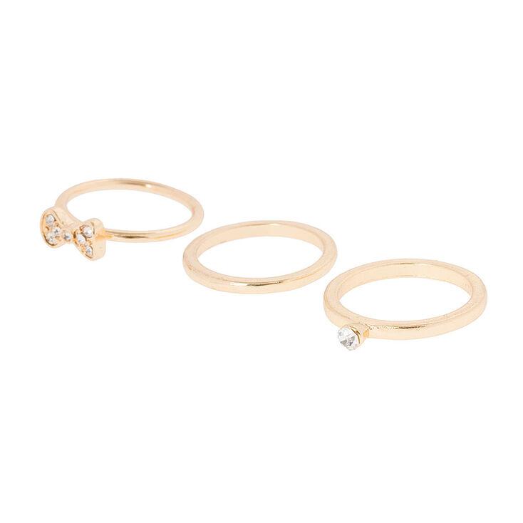 Pretty Stud Earrings & Rings Jewelry Set,