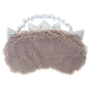 Furry Princess Cat Sleeping Mask - Gray,