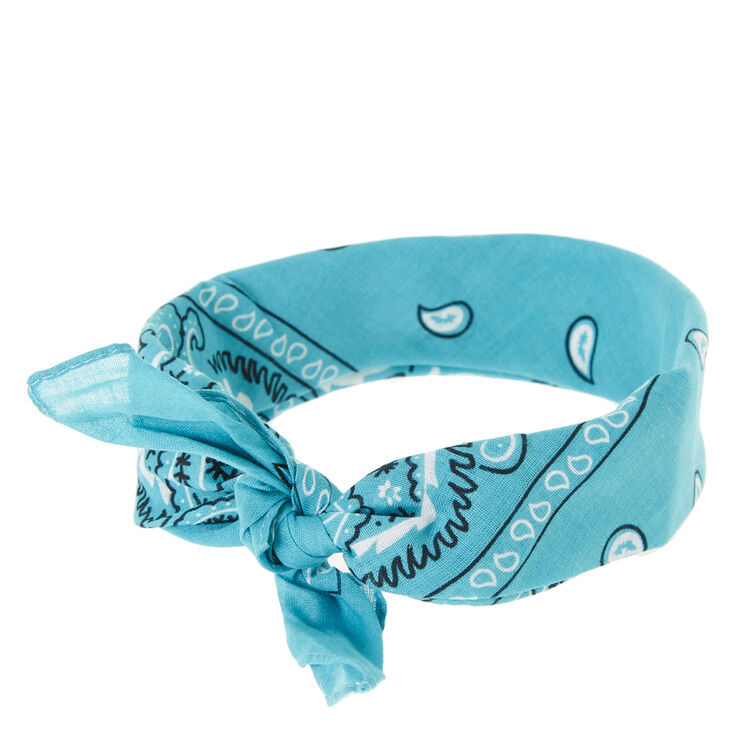 Dark Mint Bandana Head wrap,
