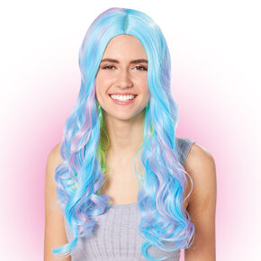 Multi-Colored Neon Curly Wig,