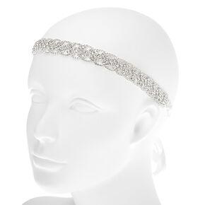 Silver 2-in-1 Braided Bling Belt & Headwrap,