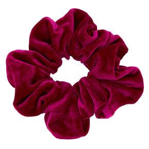 Oversized Velvet Hair Scrunchie - Fuchsia,