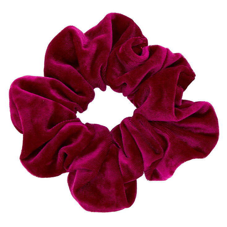 Oversized Velvet Hair Scrunchie - Fuchsia,