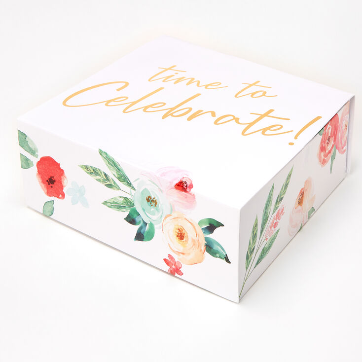 Time to Celebrate Floral Bridal Gift Box,