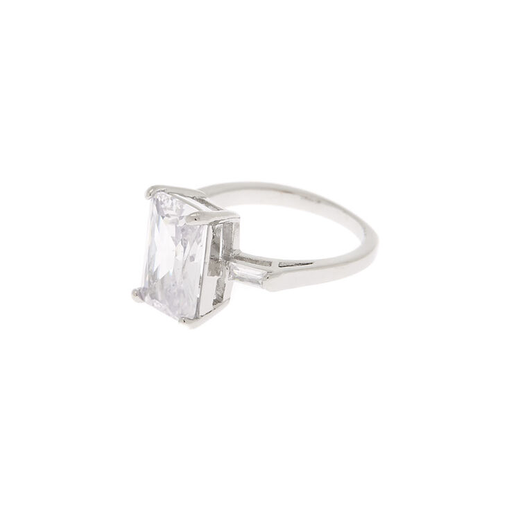 Silver Cubic Zirconia Bling Ring,