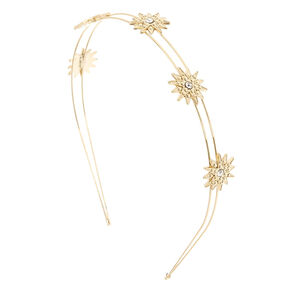 Gold Starburst Double Row Headband,