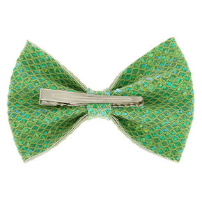 Mermaid Shine Hair Bow Clip - Lime Green,
