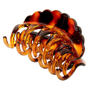 Medium Tortoiseshell Double Tooth Hair Claw - Brown,