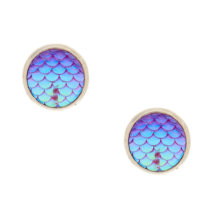 Mermaid Scale Stud Earrings,