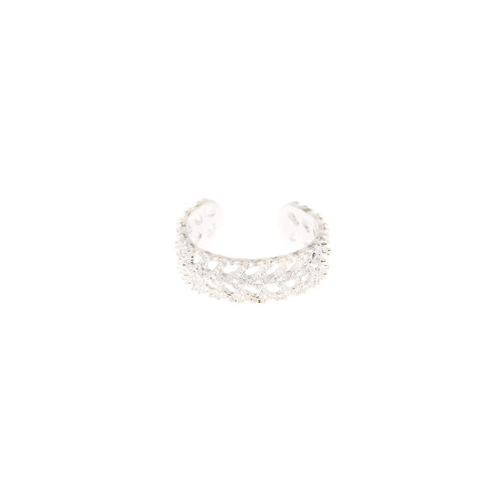 Silver Fan Band Toe Ring,