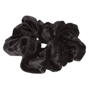 Velvet Hair Scrunchie - Black,
