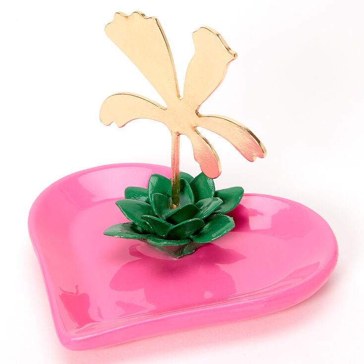 Palm Tree Heart Ring Holder,