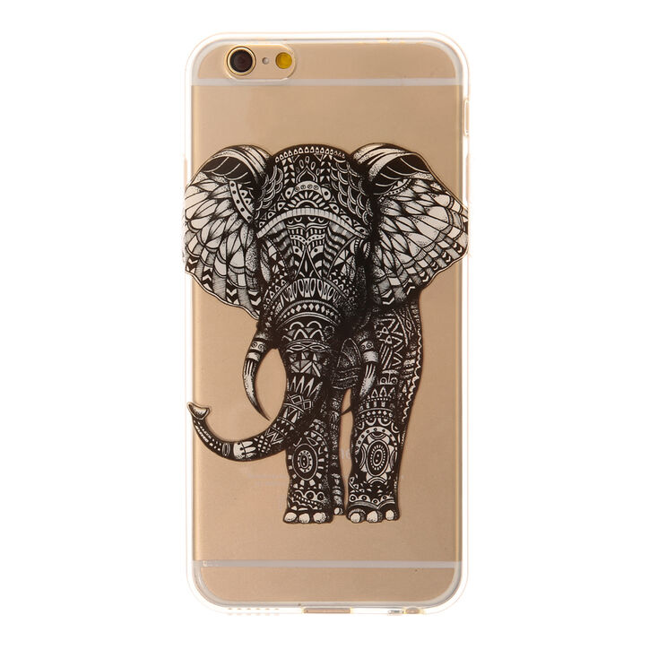 Doodle Elephant Phone Case - Fits iPhone 6/6S Plus,