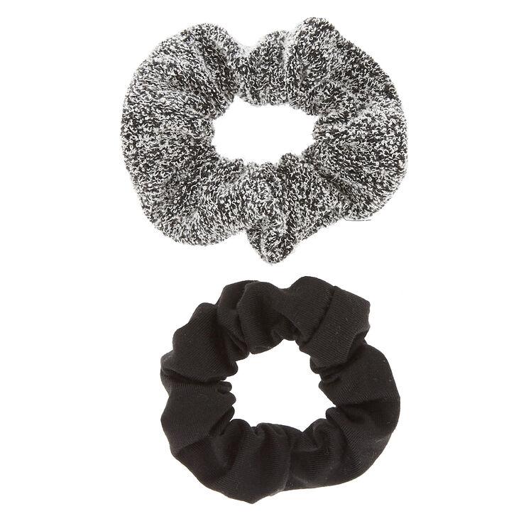 Black & Sweater Gray Scrunchies - 2 Pack,