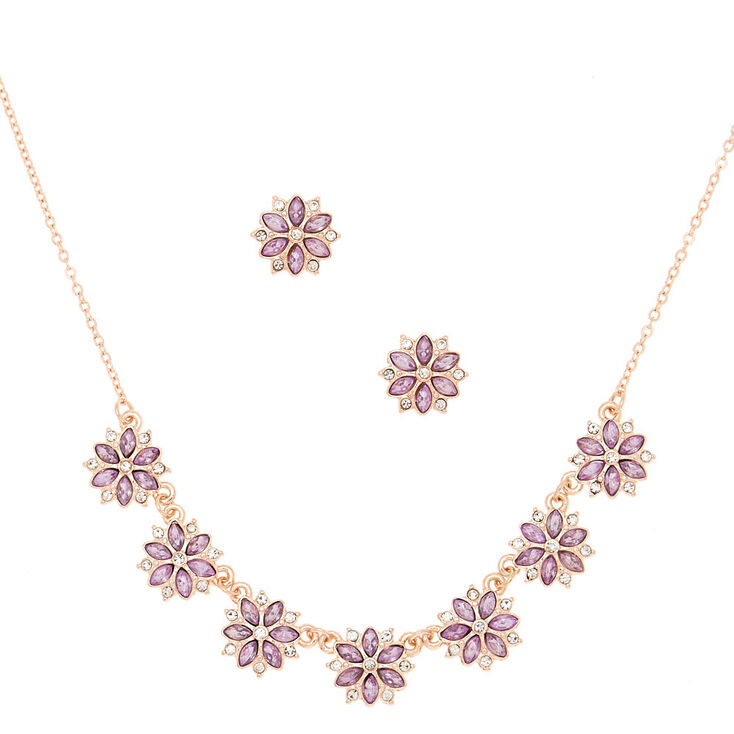 Lavender Mini Floral Jewelry Set - 2 Pack,