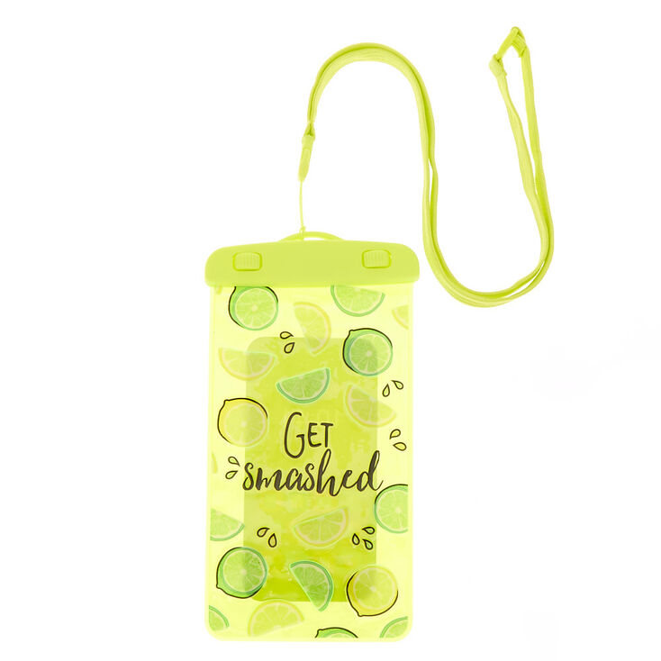 Get Smashed Waterproof Phone Pouch - Yellow,