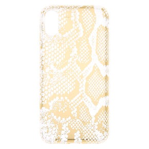 Gold Snakeskin Phone Case - Fits iPhone X/XS,