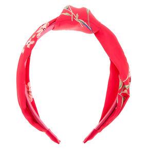 Floral Print Knot Headband - Pink,