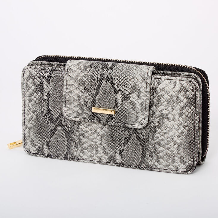 Snakeskin Wallet Crossbody Bag,