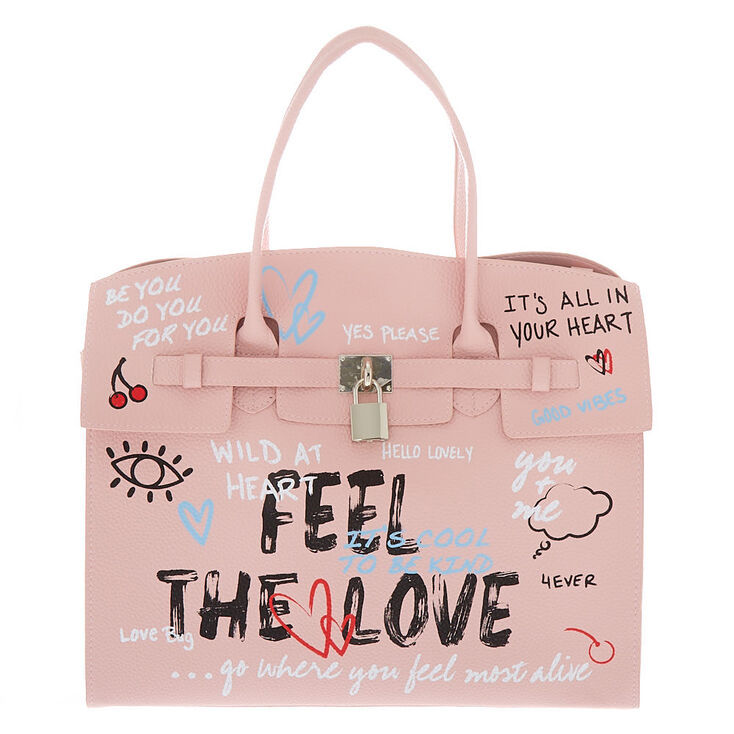 Graffiti Satchel - Pink,