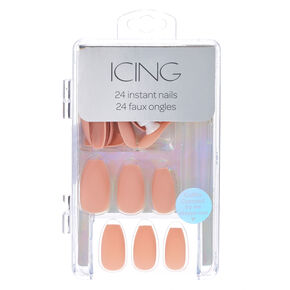 Matte Pink Instant Nails,