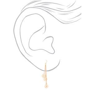 """Gold 2.5"""" Daisy Drop Earrings,"""