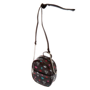 Icon Mini Backpack Crossbody Bag - Black,