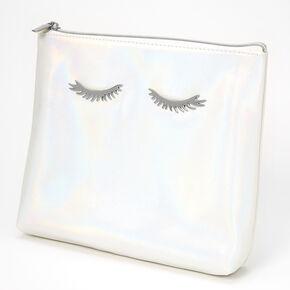 Iridescent Eyelash Makeup Bag - Pearl,
