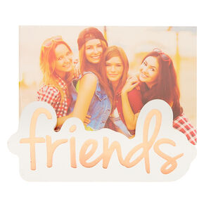 Friends Picture Holder Block - White,