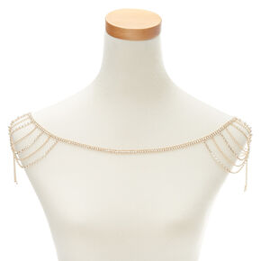 Gold Embellished Bridal Shoulder Swag Chain,