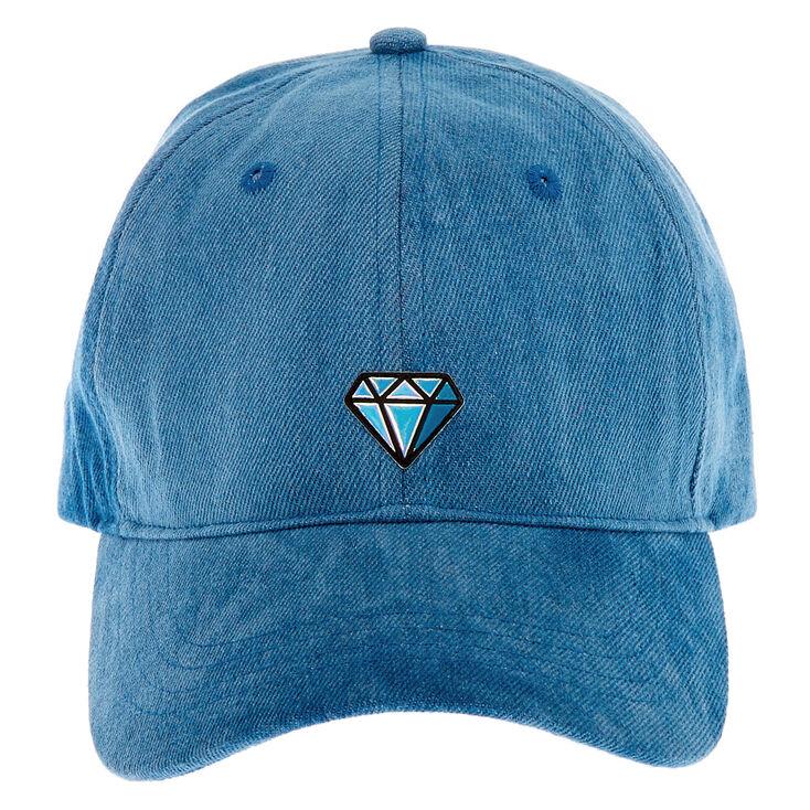 Denim Diamond Icon Baseball Cap - Blue,