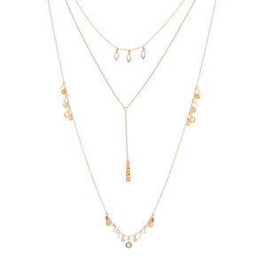 Pastel Shine Multi Strand Necklace,