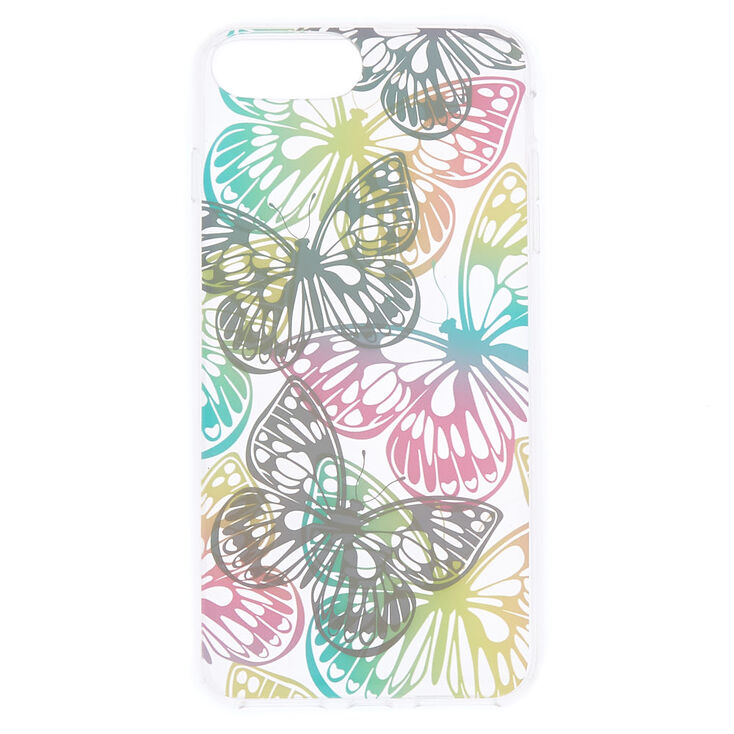 Pastel Holographic Butterfly Phone Case - Fits iPhone 6/7/8 Plus,