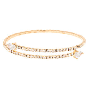 Gold Rhinestone Wrap Bracelet,