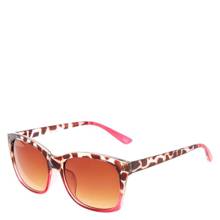 Pink Leopard Print Sunglasses,