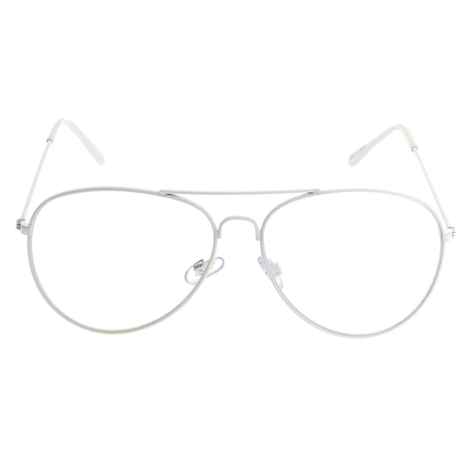 White Metal Aviator Frames | Icing US