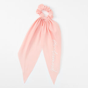 Small Bridesmaid Hair Scrunchie Scarf - Pink,