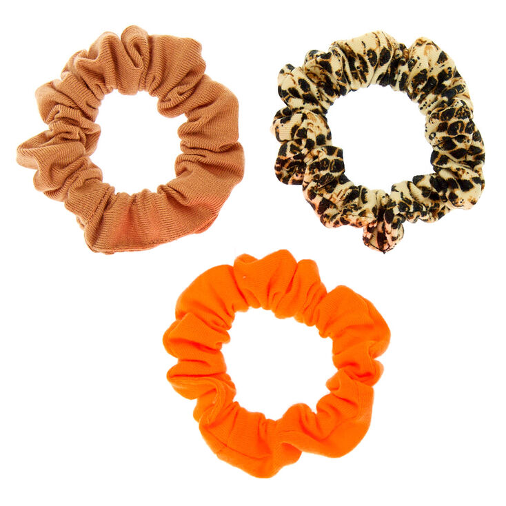 Small Neon Snakeskin Hair Scrunchies - 3 Pack,