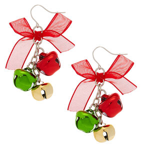 "2"" Bells Drop Earrings,"