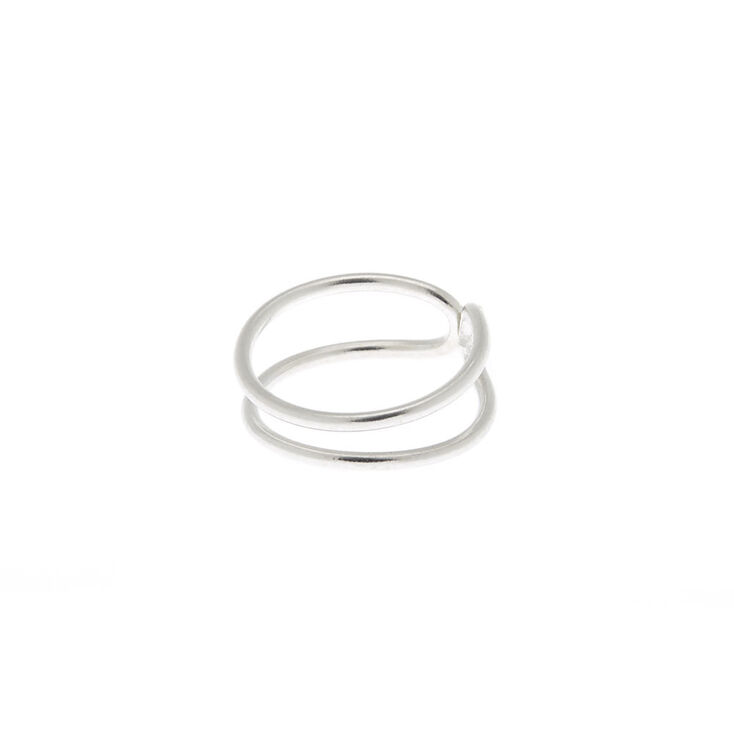 Sterling Silver Double Row Faux Nose Ring,
