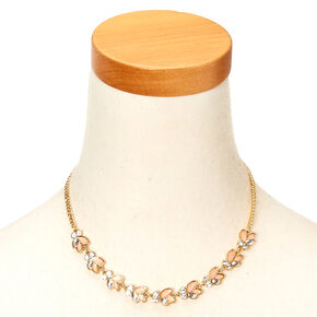 Gold-Tone Mini Flower Cluster Necklace,