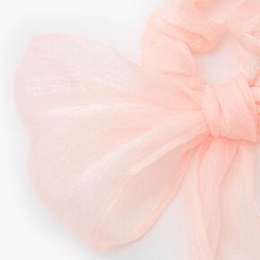Organza Bow Scarf Scrunchie - Blush Pink,