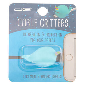 Narwhal Cable Critter - Blue,