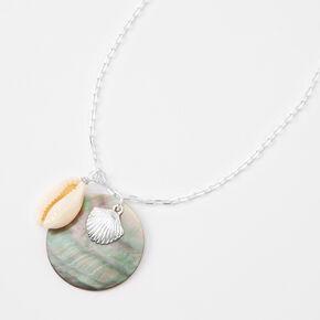 Silver Multi Shell Pendant Necklace,