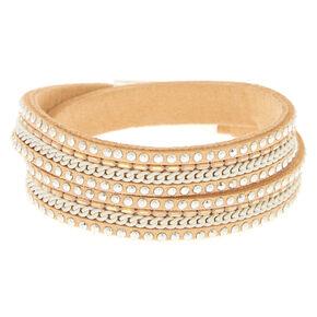 Camel Studded Wrap Bracelet,