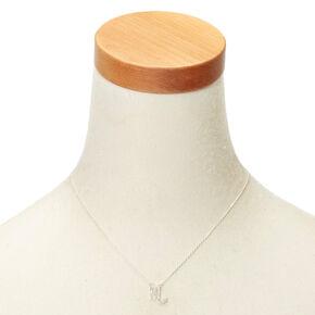Silver Zodiac Pendant Necklace - Scorpio,