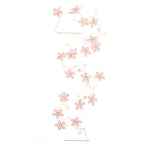 Crochet Floral Hair Vine - Blush,