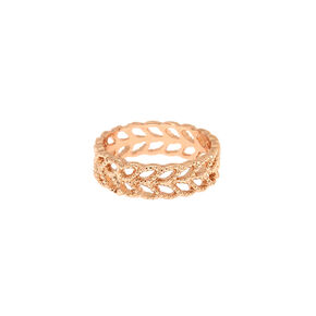 Romantic Rose Gold Leaf Ring,